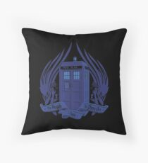 Doctor Who - Angels have the Phone Box Throw Pillow