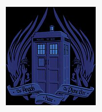 Doctor Who - Angels have the Phone Box Photographic Print