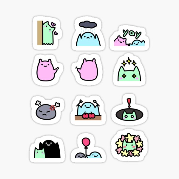 SLIME CAT AND FRIENDS: Sheet Sticker