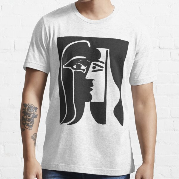 Black and White Faces VectorArt. Essential T-Shirt
