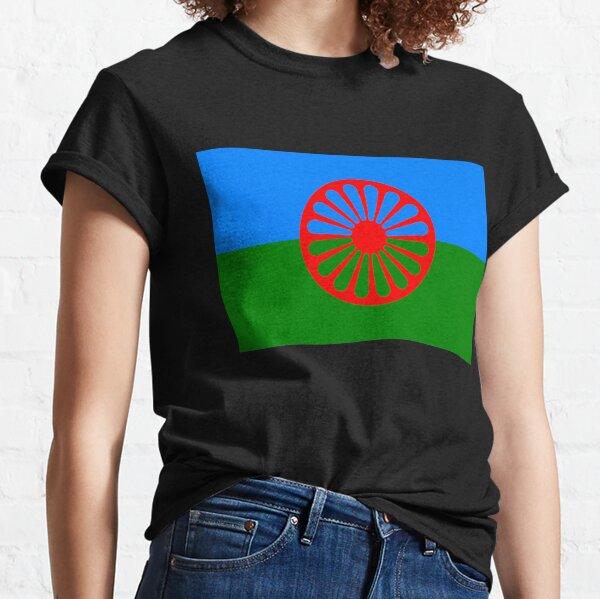 flag of the romani people o styago le romengo Classic T-Shirt