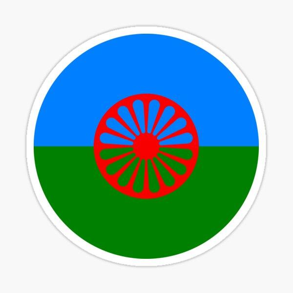 bandera del pueblo romaní o styago le romengo Pegatina