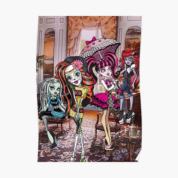 halloween skelita draculaura frankenstein clawdeen  Poster
