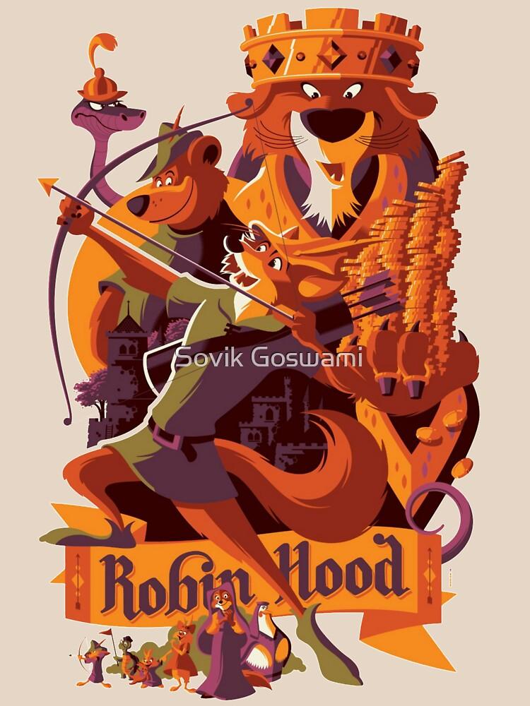 Robin hood cartoon merch by Sovikgoswami