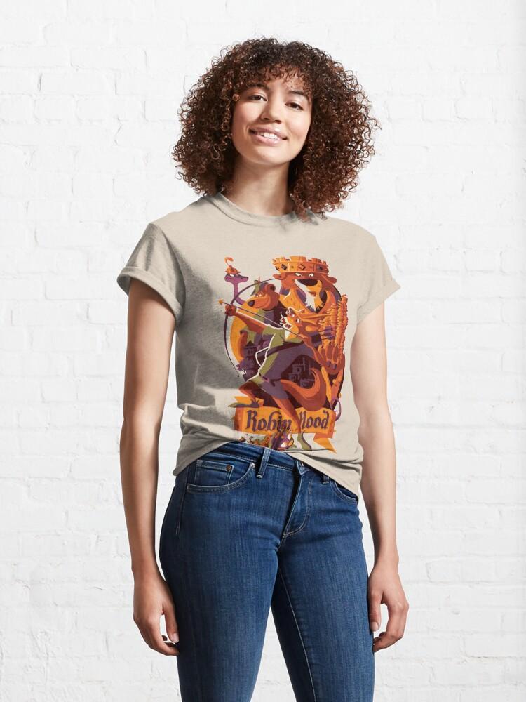 Alternate view of Robin hood cartoon merch Classic T-Shirt