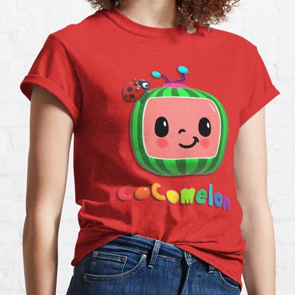 Autocollants de masque de comptines Cocomelon T-shirt classique