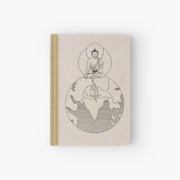 Buddha on Globe Hardcover Journal