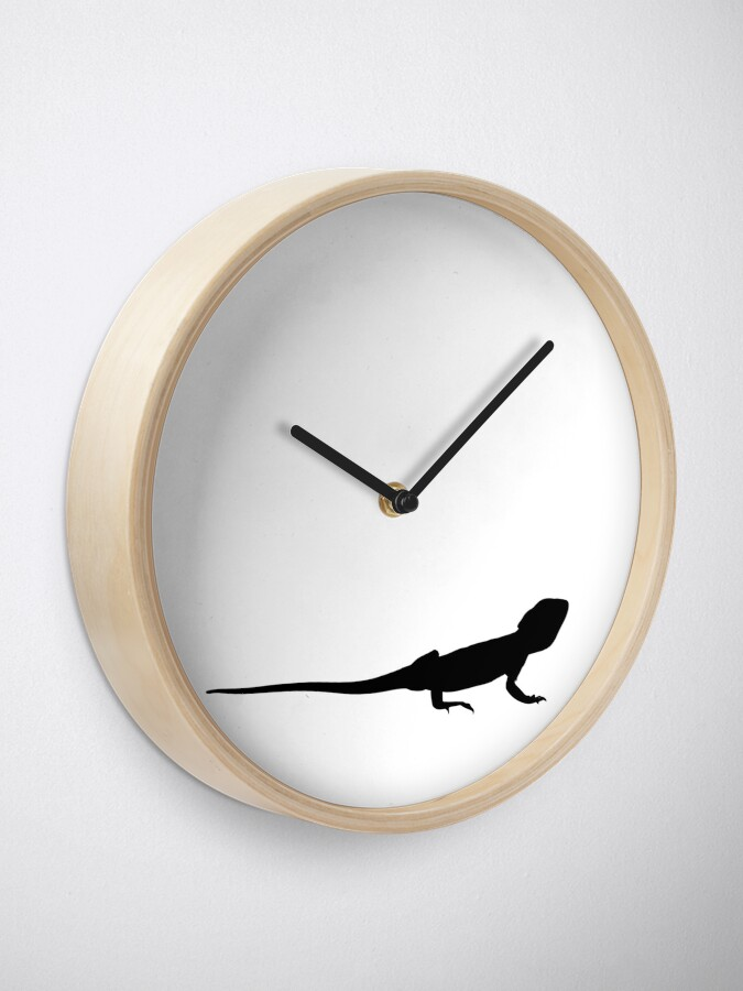 Alternate view of Bearded Dragon Reptile Silhouette Clock