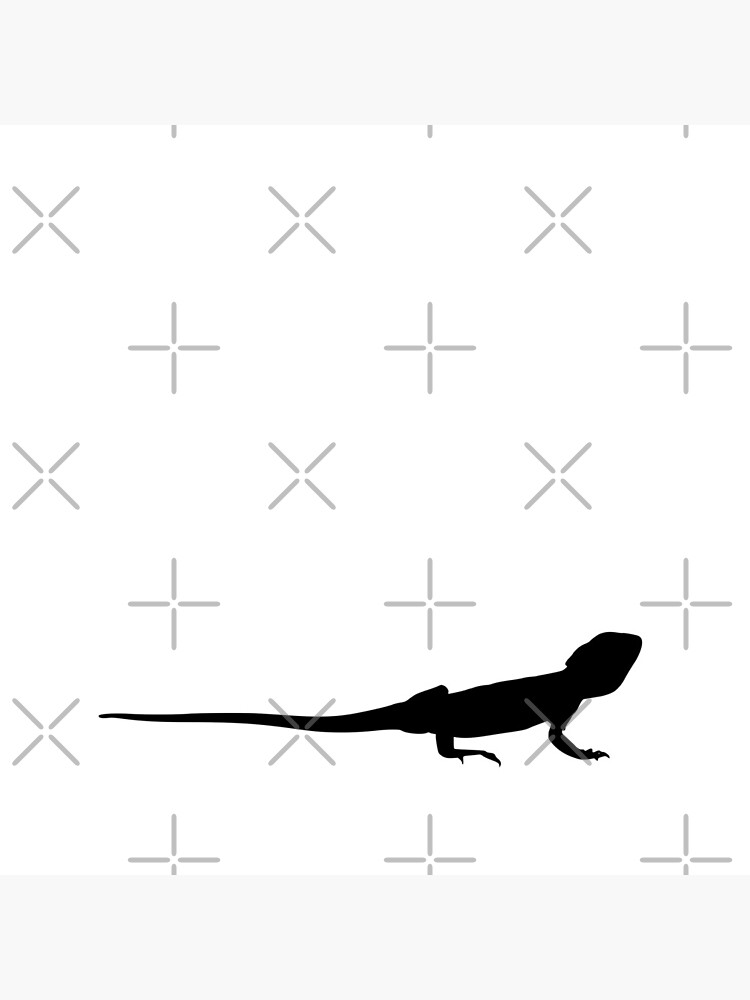 Bearded Dragon Reptile Silhouette by snibbo71