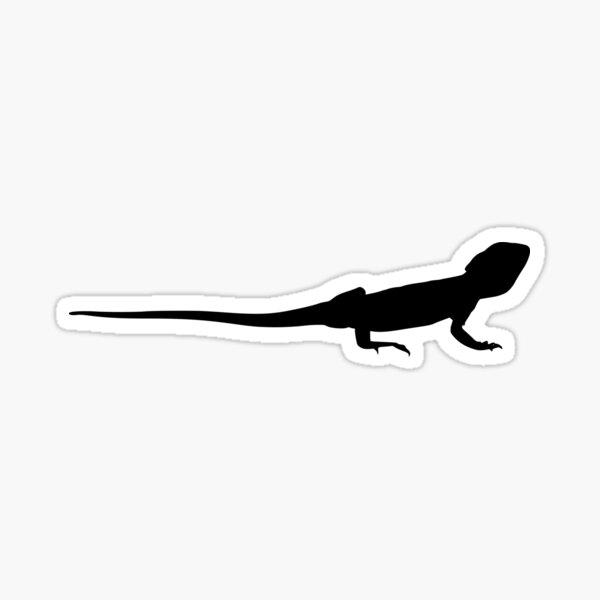 Bearded Dragon Reptile Silhouette Sticker