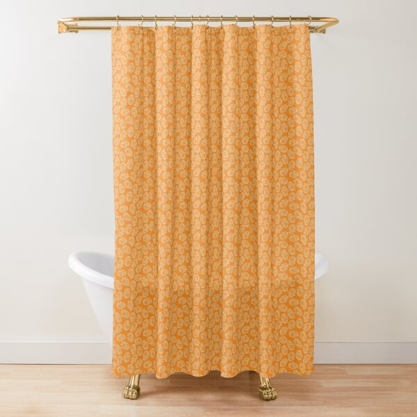 Poppy Seed Spot Shower Curtain