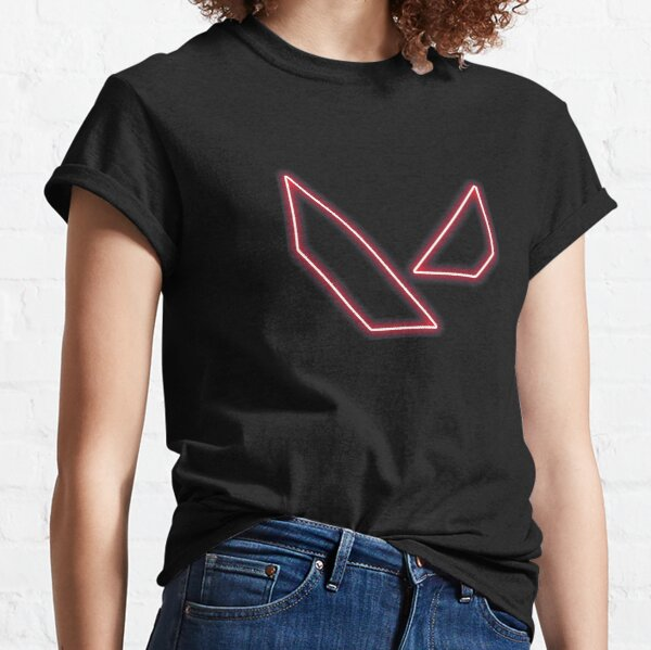 Création de logo rouge néon Valorant T-shirt classique