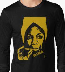 Nina Simone Yellow Sigar Long Sleeve T-Shirt