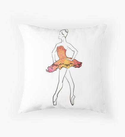Ballerina-Figur, Aquarellillustration Dekokissen