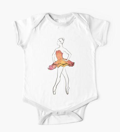 Ballerina-Figur, Aquarellillustration Kindermode