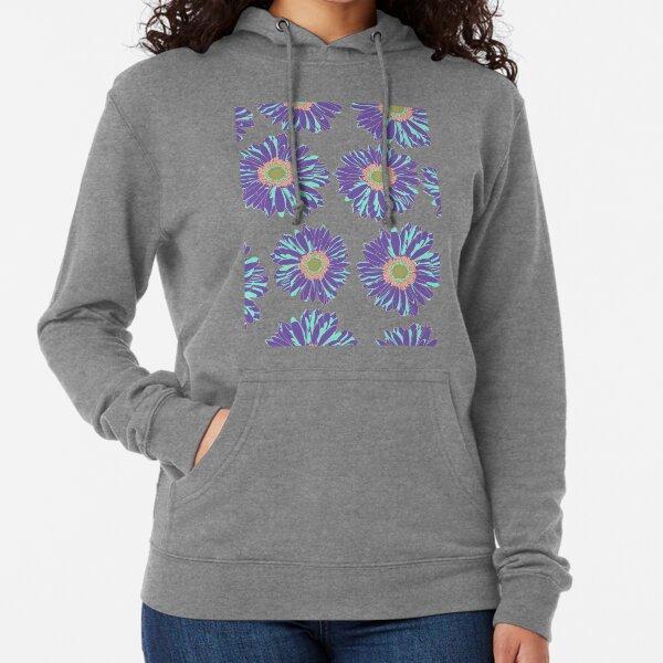 Gerbera Daisy Flowers Fantasy in Purple Lightweight Hoodie