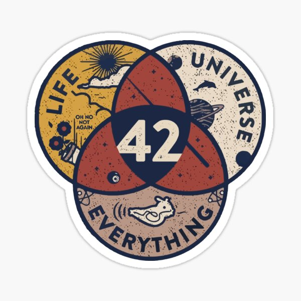 The Answer To Life Universe Everything 42 Science Sticker