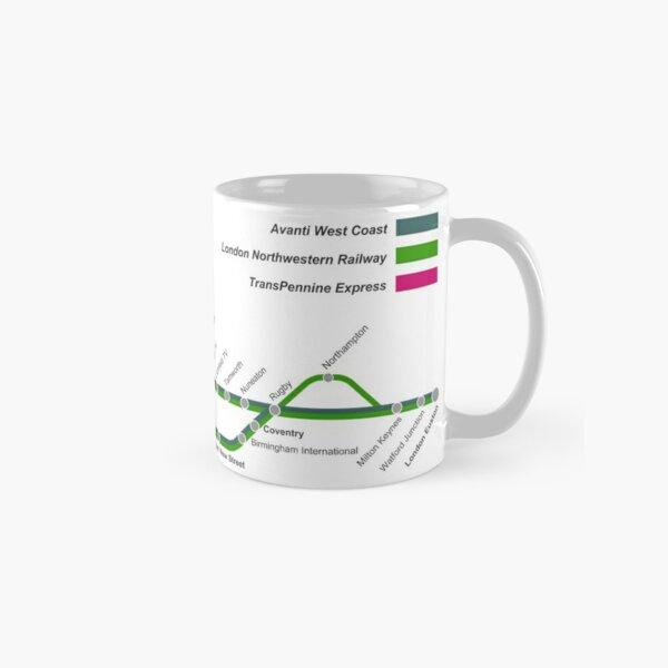 West Coast Main Line Map Classic Mug