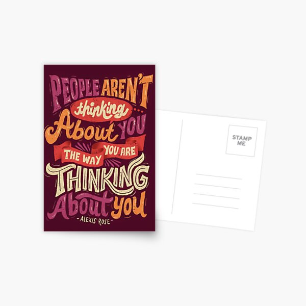 The way you are thinking about you Postcard