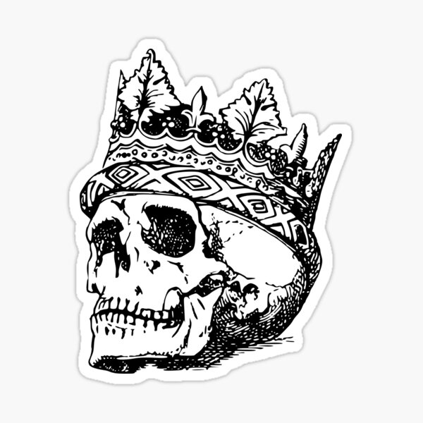 King Of Skull Sticker