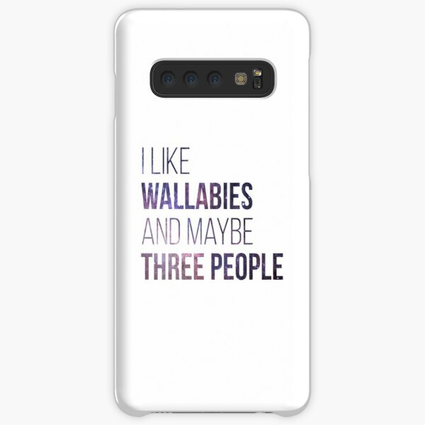 I Like Wallabies And Maybe Three People Samsung Galaxy Snap Case