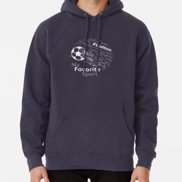 football is my favorite sport flying ball brouwn & all colors Pullover Hoodie