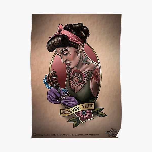 Lady Tattooartist  Poster