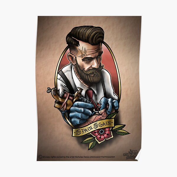 Manly Tattooartist  Poster