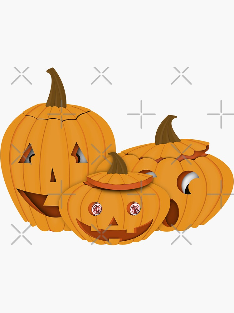 Carved Pumpkins - Happy Halloween by ButterflysAttic