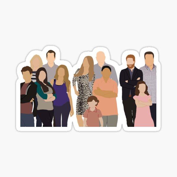 Modern Family digital art Sticker