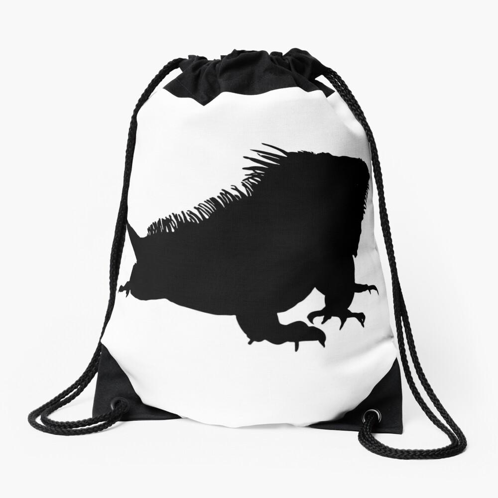 Iguana Silhouette Drawstring Bag