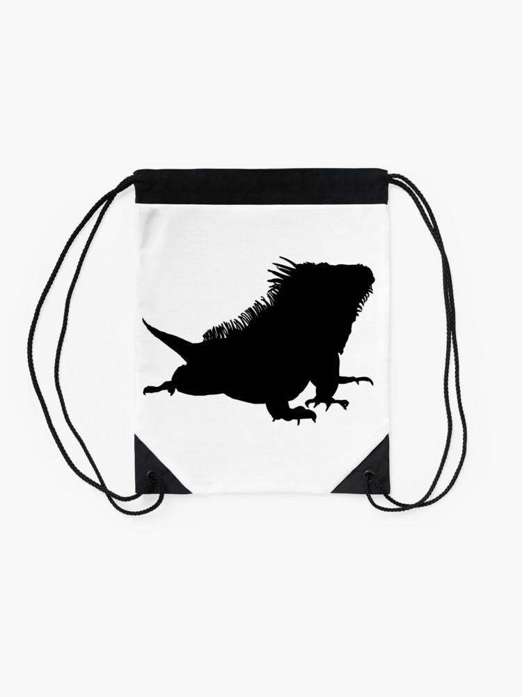 Alternate view of Iguana Silhouette Drawstring Bag