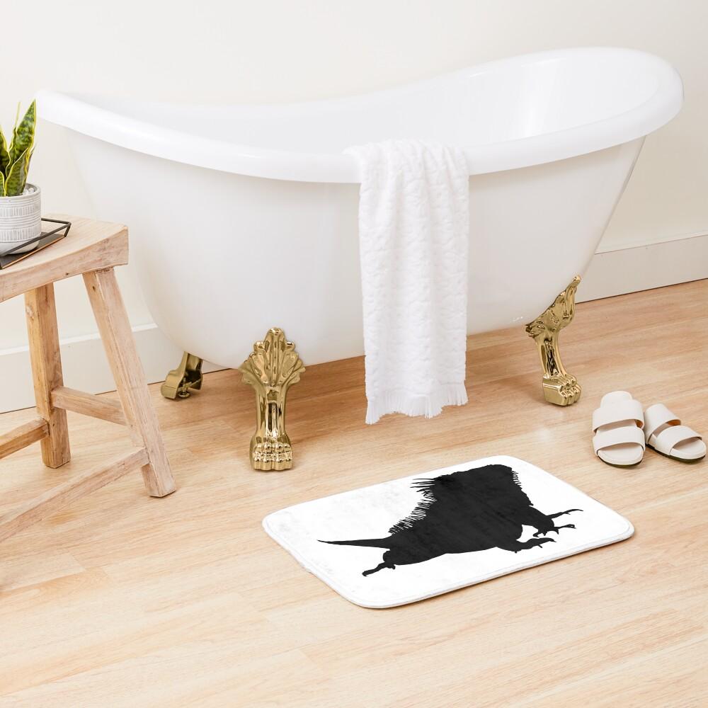 Iguana Silhouette Bath Mat