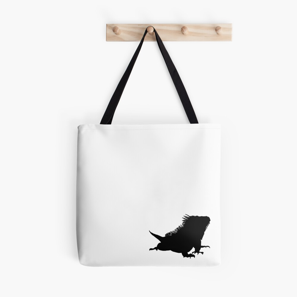 Iguana Silhouette Tote Bag