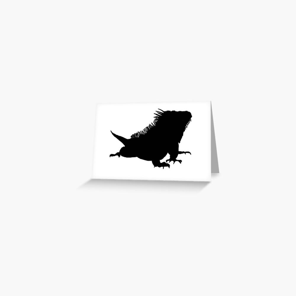 Iguana Silhouette Greeting Card