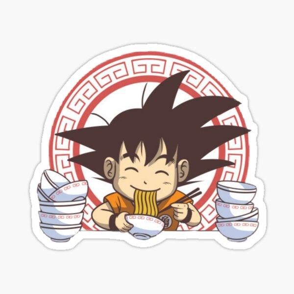Little Goku eating noodles  Sticker