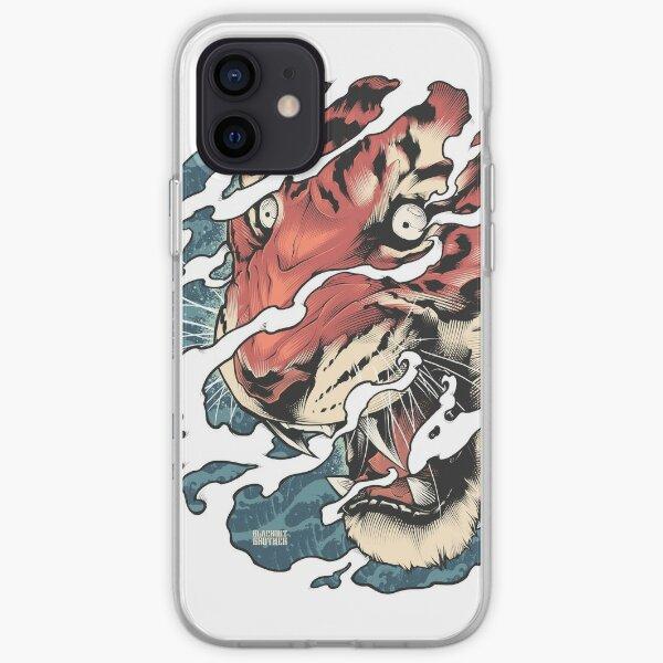 Tora - Art du tatouage de tigre japonais Coque souple iPhone