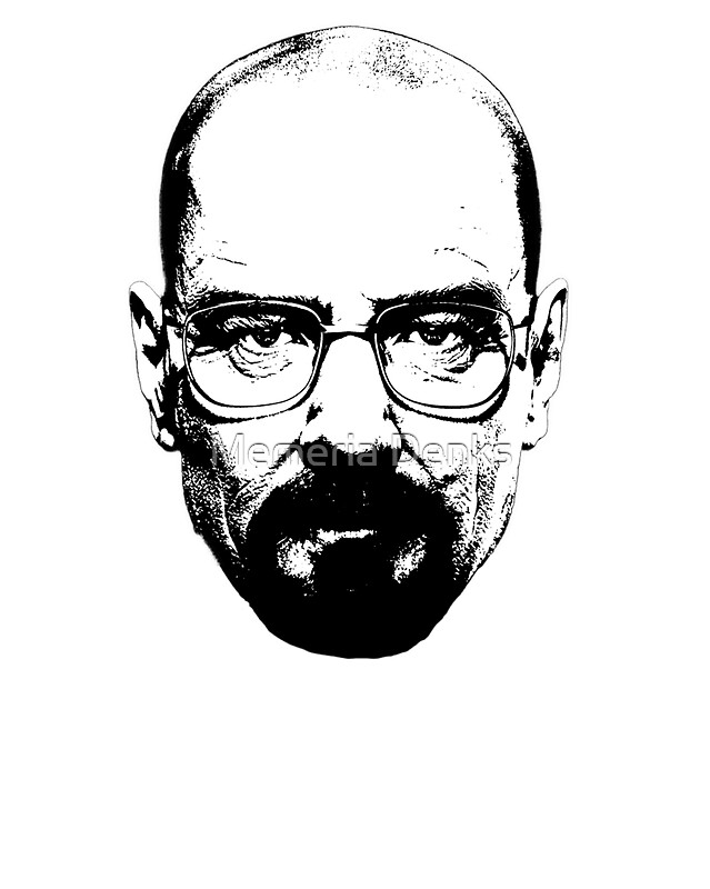 Walter White Line Drawing
