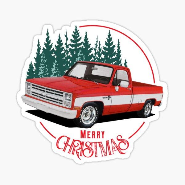 Merry Christmas C10 Truck Sticker