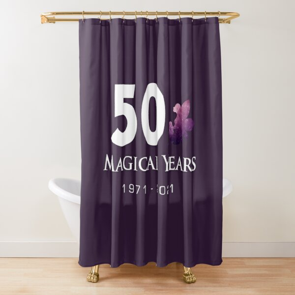 50 Magical Years - Fairy (White Text) Shower Curtain