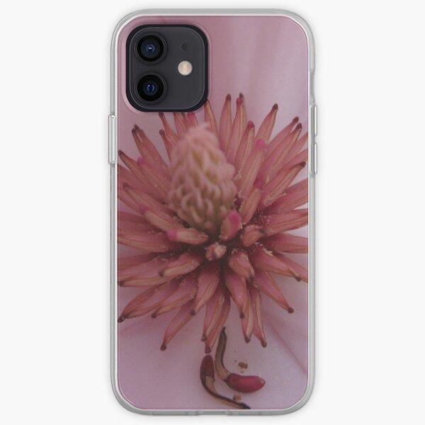 Magnolia flower heart iPhone Soft Case