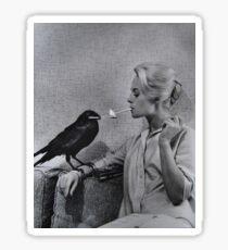 The Birds - Tippi Hendren & Crow Smoking Sticker
