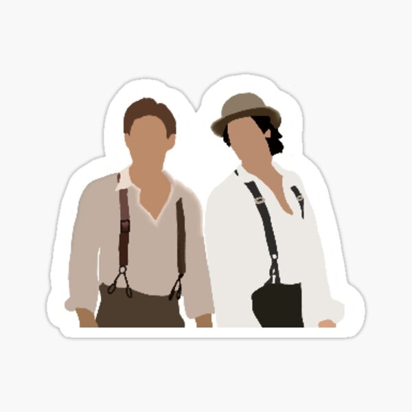 Stefan & Damon Salvatore (1864)  Sticker