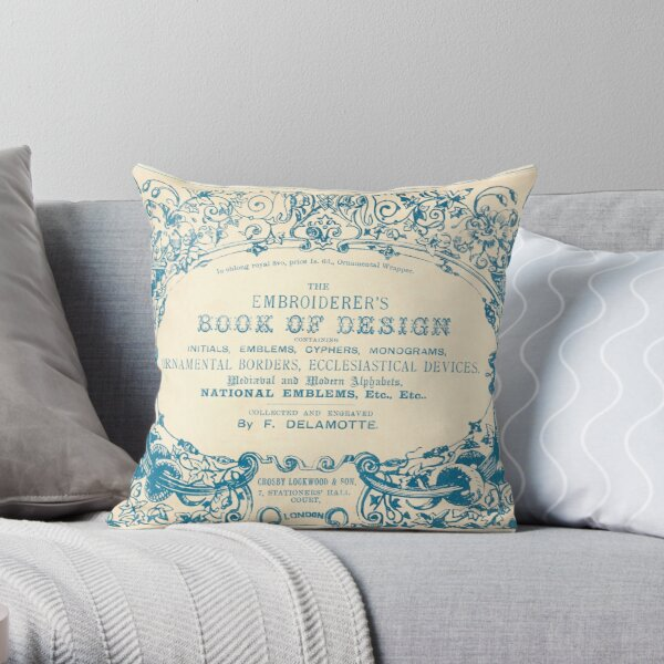 The Embroiderer's Book of Design Throw Pillow