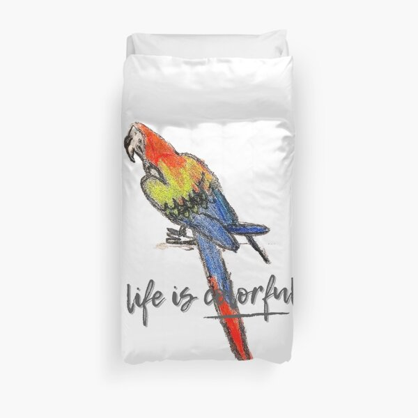 life is colorful. Duvet Cover