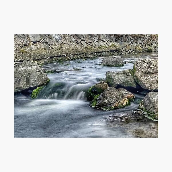 Coastal Stream long exposure 2 Photographic Print