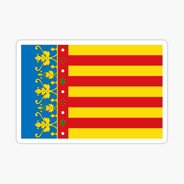 Regalos, máscaras, pegatinas y productos de la bandera de Valencia Pegatina