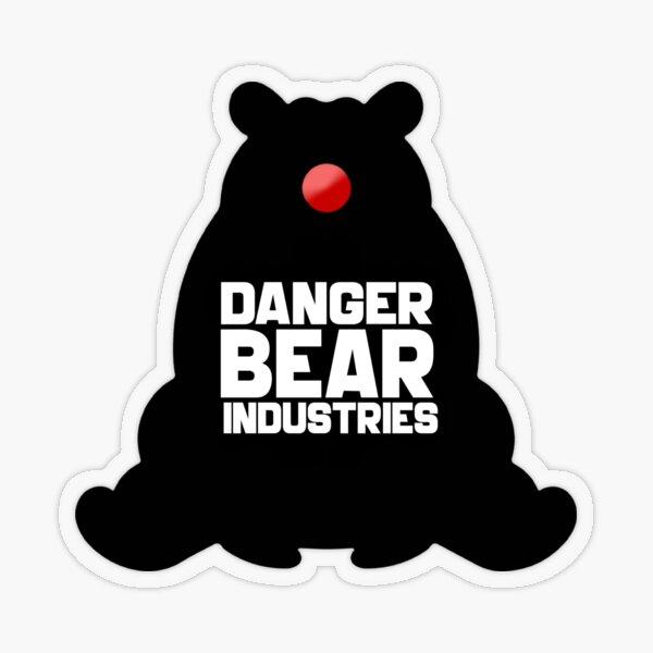 Clown Bear from Danger Bear Industries Transparent Sticker