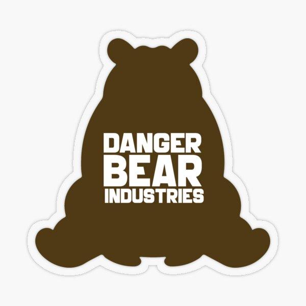 Brown Bear from Danger Bear Industries Transparent Sticker
