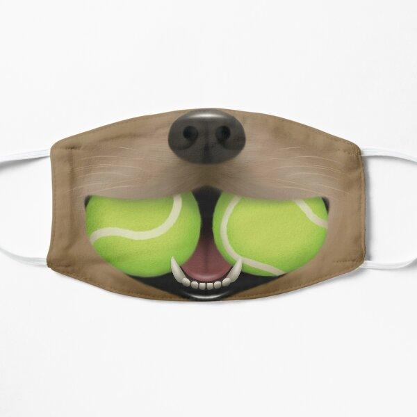 Golden Labrador With 2 Tennis Balls Flat Mask